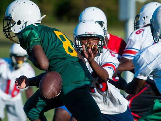 Central Hayneville High School player Swanique Gordon