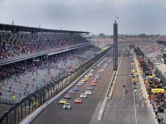 during the Brickyard 400 Sunday, July 24, 2016, afternoon