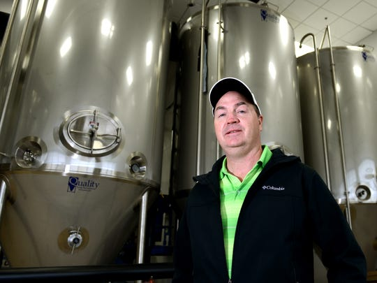 Monday Q & A with Jim Kratowicz, chief operating officer of Titletown Brewing Co. , photographed in the fermenting room.