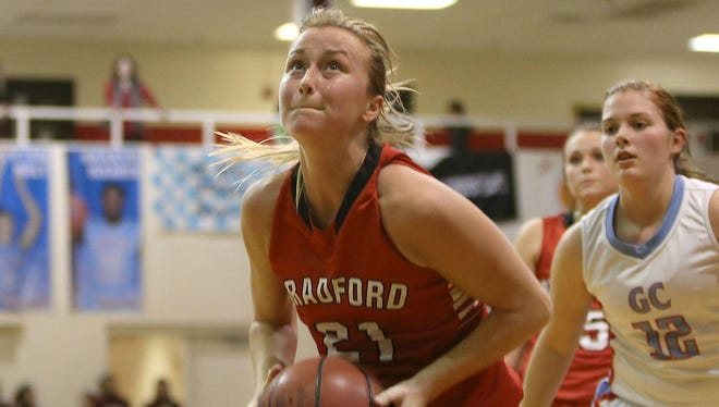 Morgan Martin is a senior on this year's Bradford girls basketball team.