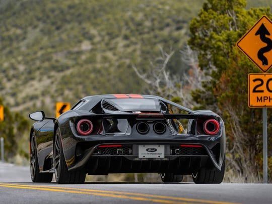 The  Ford Gt On A Road Near The Utah Motorsports