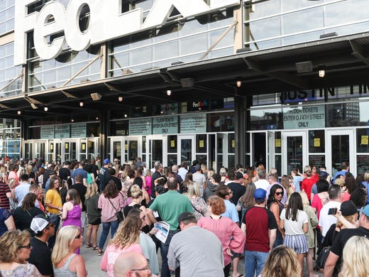May 30, 2018 - Fans line up outside of the FedExForum