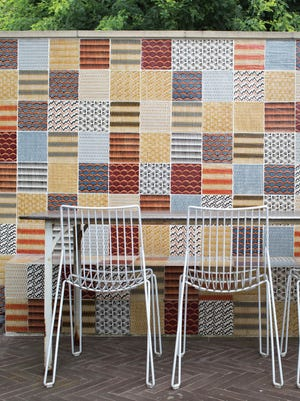 """The Neisha Crosland Studio in the U.K. from the book, """"Tile Makes the Room,"""" by Robin Petravic and Catherine Bailey."""