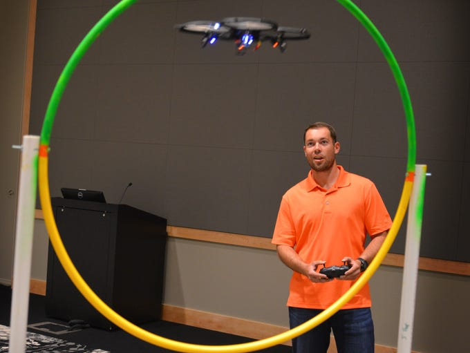 To celebrate Engineers Week, Harris Corp. held a Quadcopter