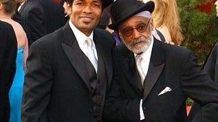 Mario Van Peebles (L) and his father Melvin Van Peebles.