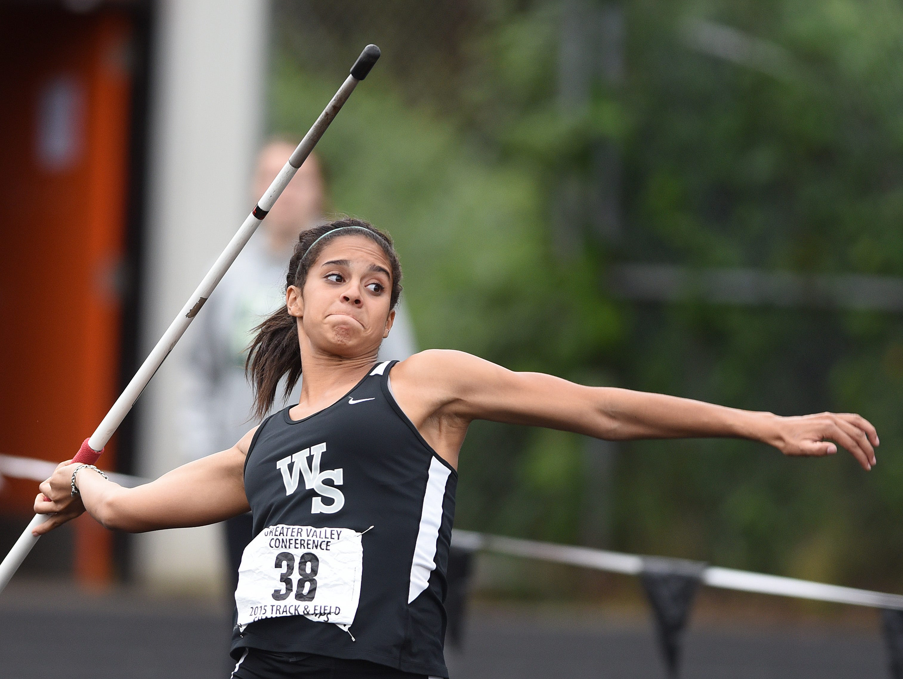 West Salem's Keira McCarrell was the Greater Valley Conference champion, 6A state runner-up and national champion in the javelin in 2015.