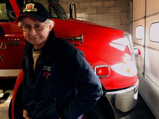 Richmond Fire Chief Dennis Gile joined the department in 1968, two years before firefighters moved into their current building on Main Street. Fire trucks have outgrown the space in the garage.