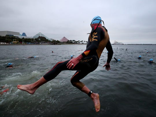 GALVESTON, Texas -- Athletes prepare to compete in