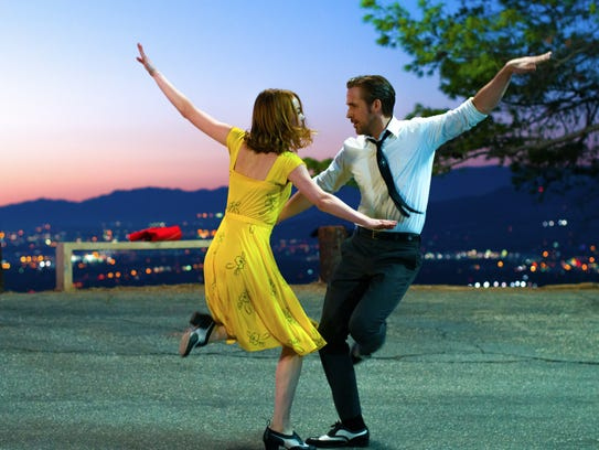 Emma Stone and Ryan Gosling dance in this scene from