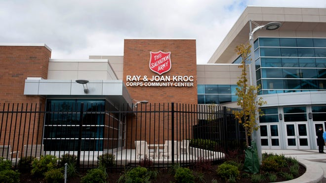 Exterior of The Salvation Army Ray and Joan Kroc Corps Community Center during the media preview of the new facility in Camden on Thursday, October 2, 2014.