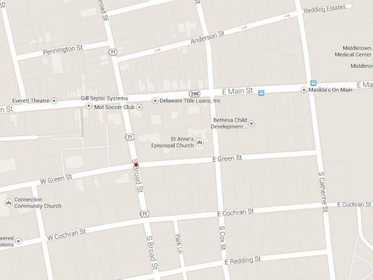 middletown crash map.JPG
