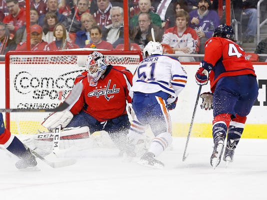 USP NHL: EDMONTON OILERS AT WASHINGTON CAPITALS S HKN USA DC