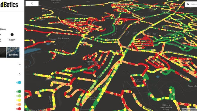 RoadBotics creates maps that can pinpoint the streets and highways that need the most attention.