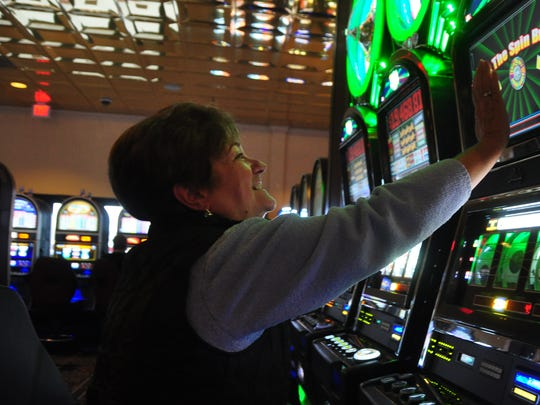 Hilda Blood of Fenwick Island was having good luck playing slots at the Casino at Ocean Downs in this file photo. She and her husband Art visit the casino about once a month.