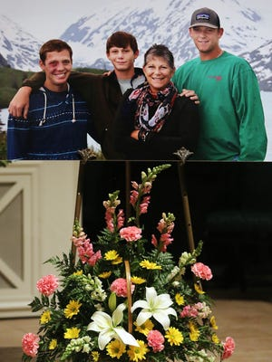 Joanna Francis left behind three sons who were pictured with her. Cancer victim  Joanna Francis, who founded the Live Well Foundation to give other cancer patients hope, was eulogized during her funeral at the Bradfordville First Baptist Church on Sunday afternoon, June 8, 2014.  After the hour long church service, friends and family met at the Goodwood  Carriage House to celebrate Francis' life and legacy.