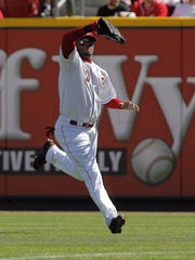 Right fielder Ken Griffey Jr. of the Cincinnati Reds