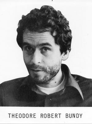 This 1977 photograph was taken shortly after Ted Bundy's first escape and recapture and used on the FBI Ten Most Wanted Fugitives poster.