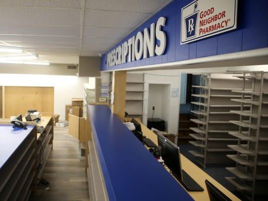 Interior view of the remodeled Farmingdale Pharmacy.