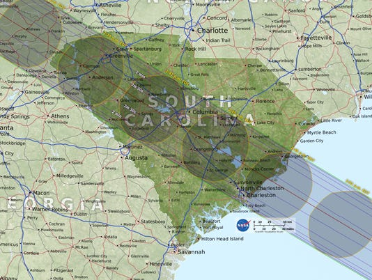 South Carolina eclipse