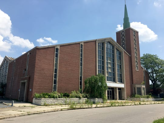 The former Guardian Angels Catholic Church in Detroit, now owned by Cathedral of St. Augustine's. Photo taken July 1, 2018.