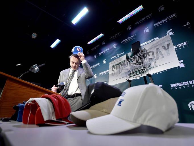 Head Coach Mark Dantonio makes a Spartan-style spin