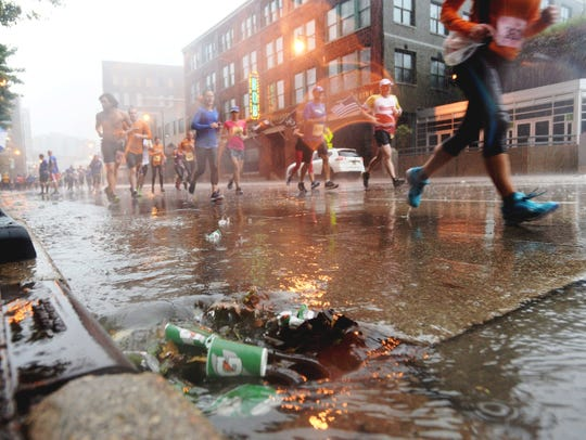 The Oct. 15 Grand Rapids Marathon proved to be a rain-soaked