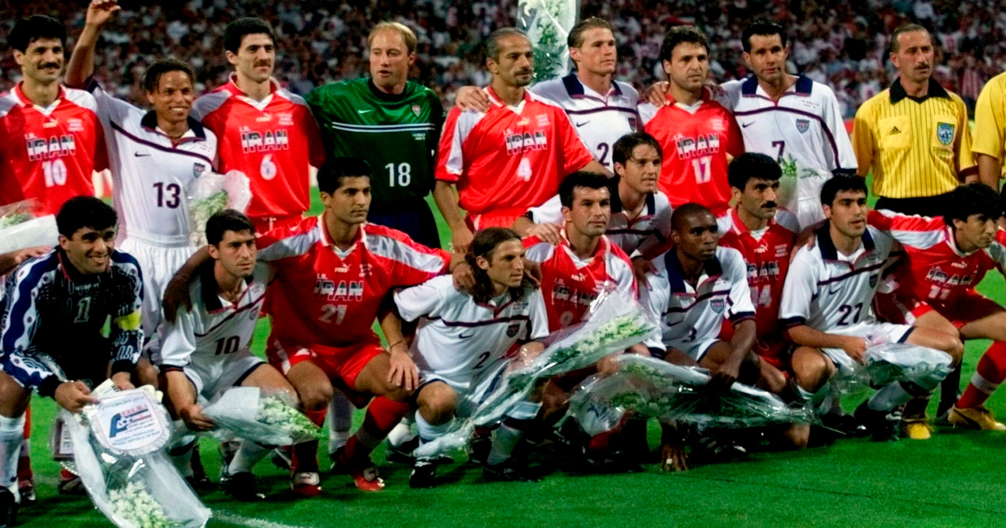9631ce640d4 WORLD CUP  Peace reigns as US faces Iran at 1998 tournament