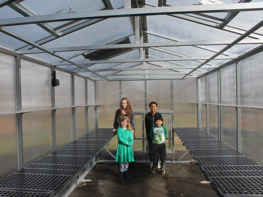 Discovery School at Bellwood is home to Murfreesboro City Schools' newest greenhouse, funded by a Farm to School grant.