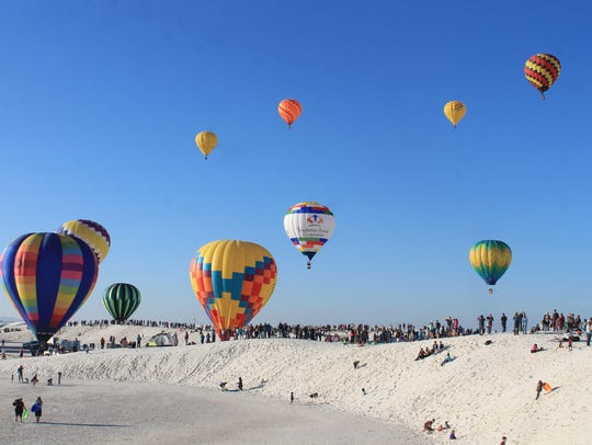 An estimated 2,300 visitors entered White Sands National