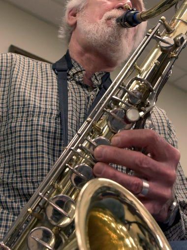 Kerry Kyle of Springettsbury Township plays saxophone