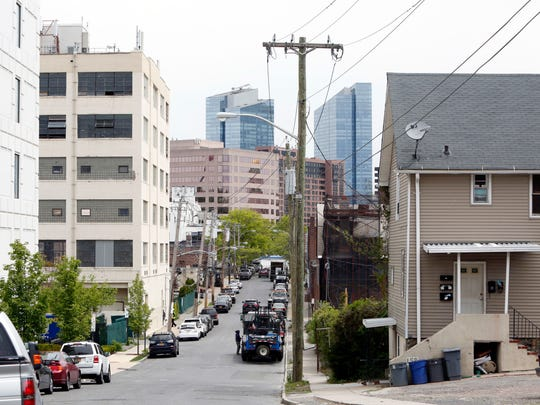 A view of Westmoreland Avenue, where an old building is being converted into loft rentals in White Plains.
