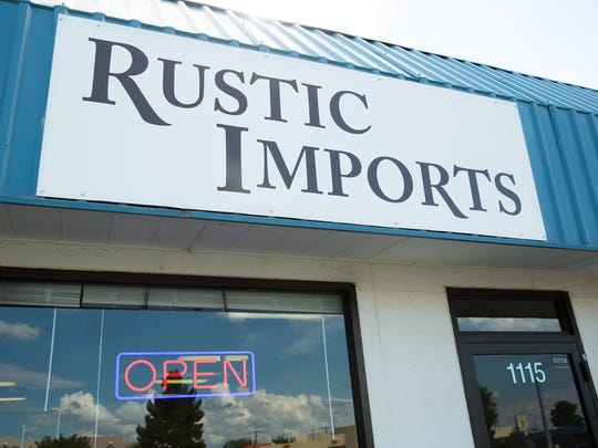 Entrance to Rustic Imports on 1115 North Solano Drive,