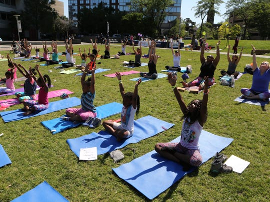 Enjoy the fresh air and get fit at one of the many outdoor yoga classes being offered throughout spring and summer.