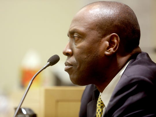 Spring Valley village Trustee Vilair Fonvil testifies