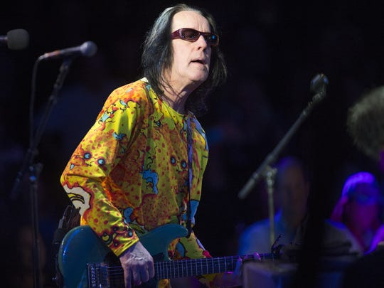 Todd Rundgren performs with Ringo Starr and his All-Starr Band at Celebrity Theatre in Phoenix, Ariz. November 15, 2016.