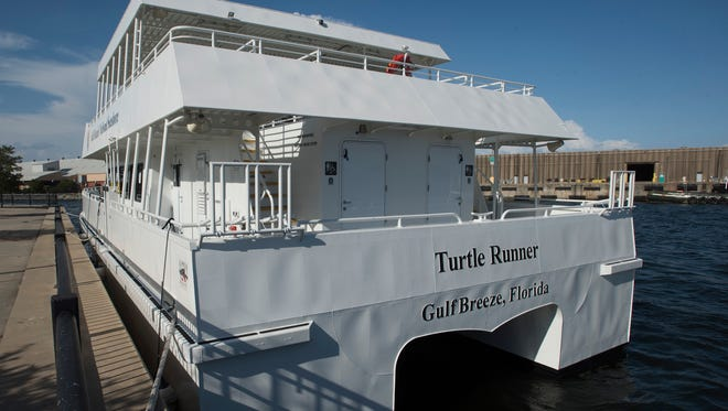 The National Park Service ferries are now in the water at Commendencia slip at the Port of Pensacola, Wednesday, May 23, 2018.