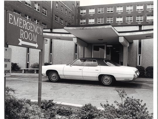 Mission's emergency room entrance, undated.