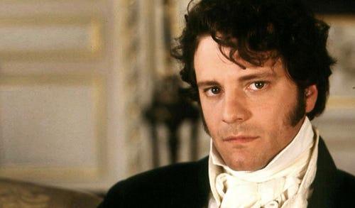 Colin Firth as Mr. Darcy in