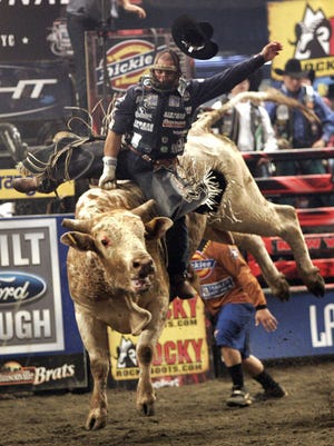 Ednei Caminhas, the 2002 Professional Bull Riders world champion, will be among the competitors this weekend at First Arena in Elmira.