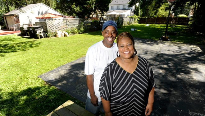 Willie and Jacqueline Moore got a side lot at a January fair in their northwest Detroit neighborhood. They have been maintaining the spot for years as destination for area youths.