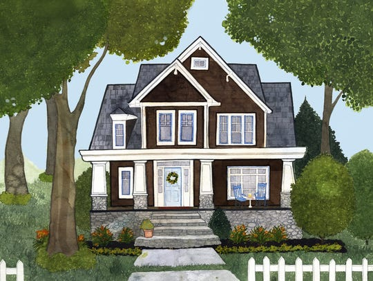 This is an artist's rendering of what Bampa's House