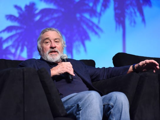 Famed actor Robert De Niro answers a question from