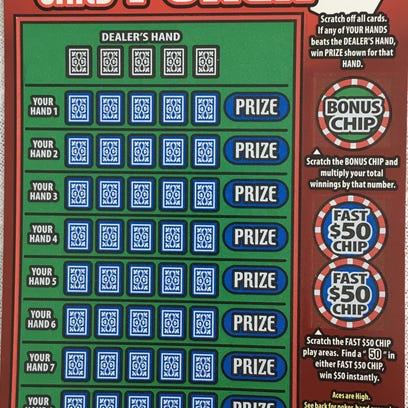 The new scratch-off game High Card Poker was pulled
