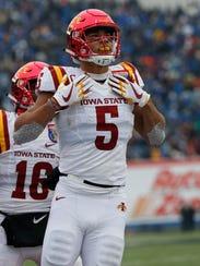 Iowa State Cyclones wide receiver Allen Lazard (5)