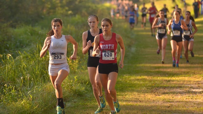 Krissy Gear leads the Region 3A-3 race on Friday at Holloway Park in Lakeland.