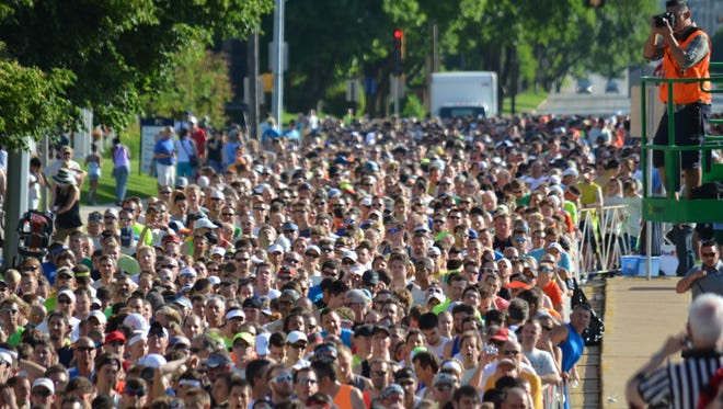 Race day crowd