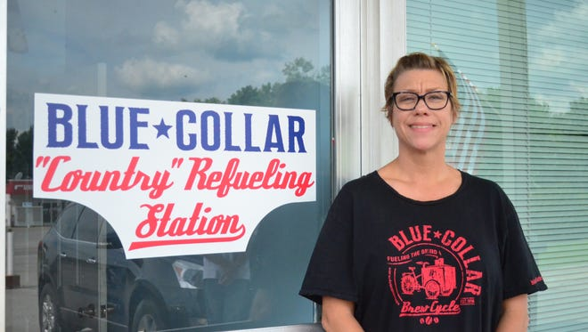 Becky White and her family launched the drive-thru eatery Blue Collar Country Refueling Station on Highway 31 East in Bethpage.
