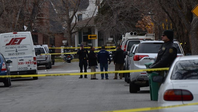 Officers with the Reno Police Department and deputies with the Washoe County Sheriff's Office are on scene of an officer-involved shooting on Marsh and Nixon avenues in Old Southwest Reno on March 20, 2018.