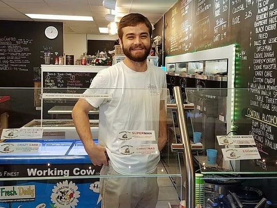 Joey Almeida owns Joey's Custard on Sanibel Island