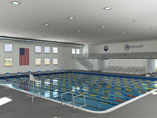 A rendering of the aquatics center soon to be at Sussex Academy in Georgetown.